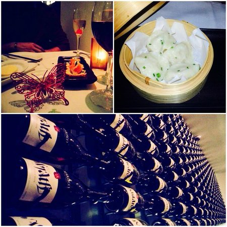 Pullman Auckland : Dumplings, Wines decorated in the restaurant