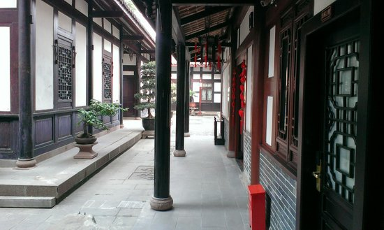 Chengdu Shuyuan: one section of rooms