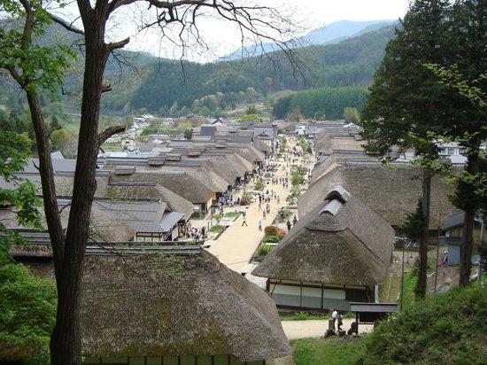 Ouchijuku: 丘からの景色