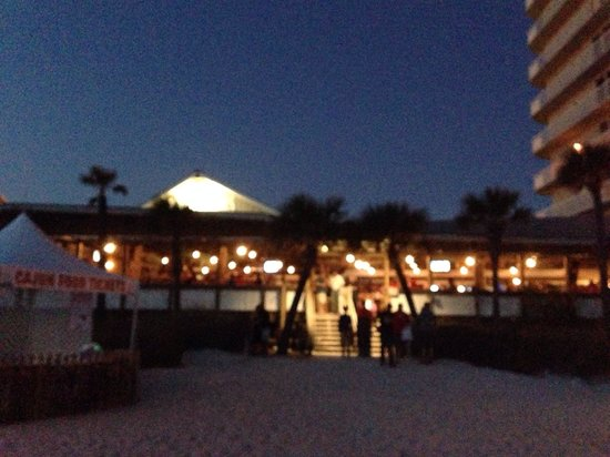 Schooners : A view from the beach immediately after sunset.