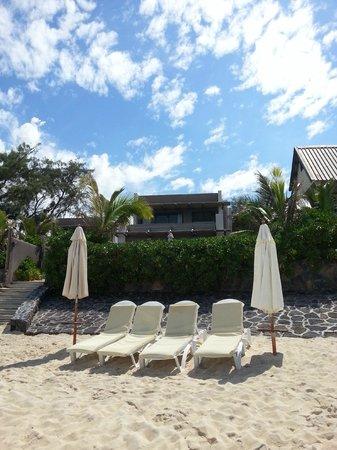 Stylia Villas: villa vu de la plage