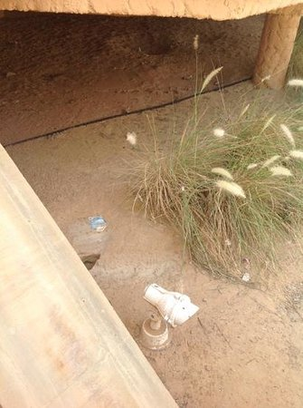 Banyan Tree Al Wadi: trash all around the villa