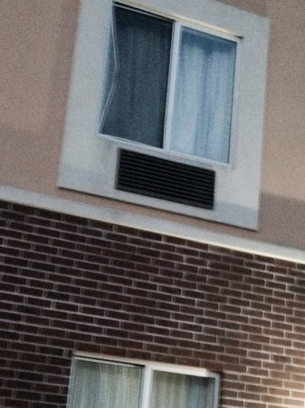 Sleep Inn & Suites Shepherdsville: Window screen pushed out
