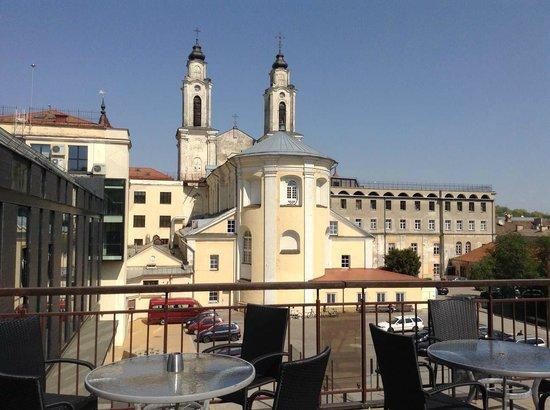 Daugirdas Hotel: Вид с террасы