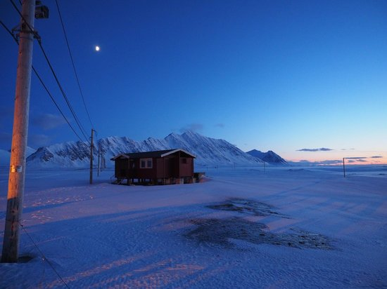 Svalbard, Norway: Outhouse on the surrounds of the Radio Station