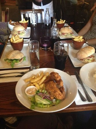 The Cowherds: nicely presented although chicken was too dry