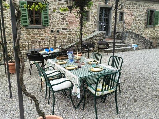 Villa Il Trebbio : la cena con gli amici