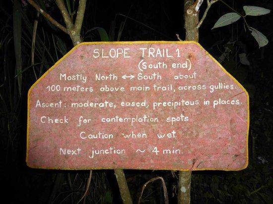 Rumi Wilco Ecolodge & Nature Reserve: Hinweisinformation zu den Lehrpfaden