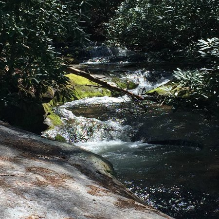 Stone Mountain State Park: Lots of little waterfalls along the way.