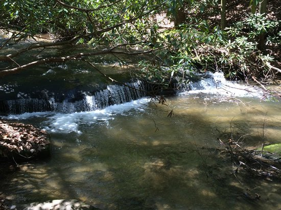 Stone Mountain State Park: There are lots of views of rushing water along the way.