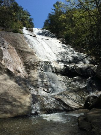 Stone Mountain State Park : Main Waterfall at the end of the hike.