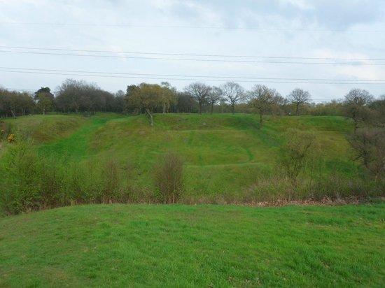 Antonine Roman Wall: Rough Castle Roman fort