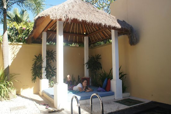 Jas Boutique Villas : neat and relaxing gazebo
