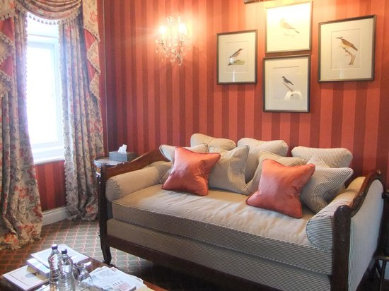 Ashford Castle: Comfy sofa to curl up on