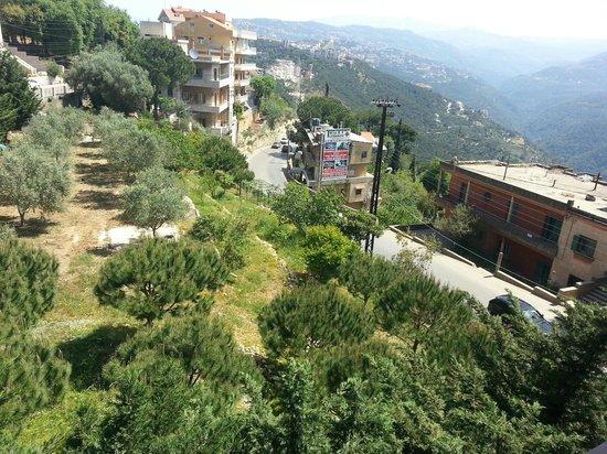 Hotel Wakim : Balcony View to Faraya mountains2