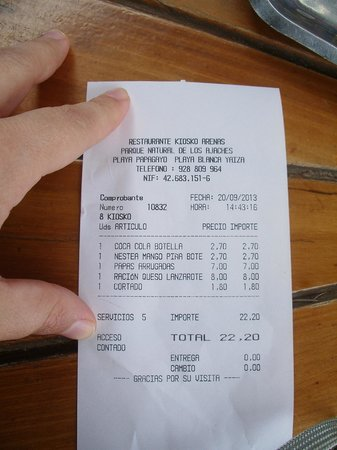 Restaurant Kiosco Arenas: Precios excesivos