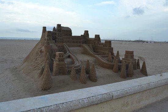 Hotel Neptuno: amazing sand castles