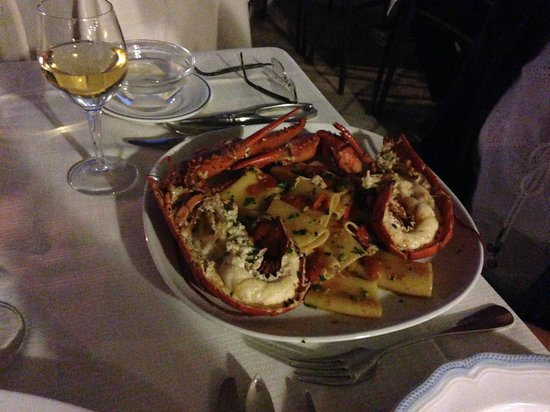 Park Hotel & Terme Romantica: Lobster dinner