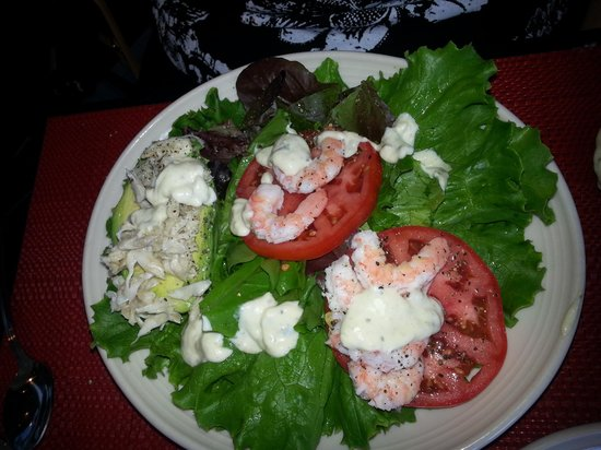 Sea Captain's House : Delicious Avocado salad with crabmeat and shrimp