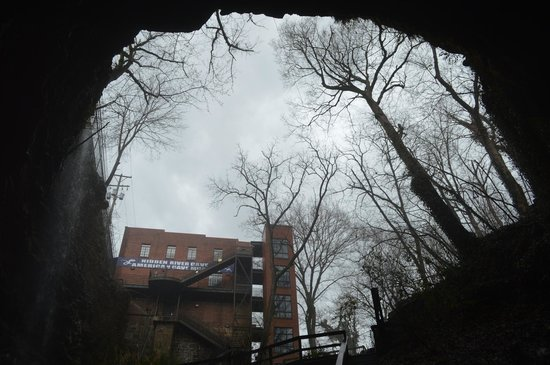 Hidden River Cave and American Cave Museum: entrance looking out