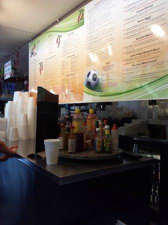 La Tienda Latina: Menu board