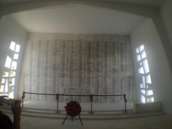 USS Arizona Memorial/WW II Valor in the Pacific National Monument : In memory of the soldiers who lost their lives