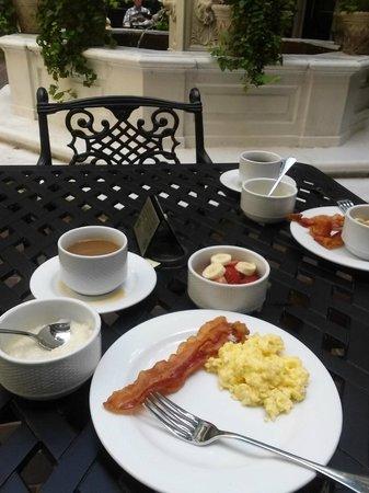 Hotel Mazarin: Breakfasts were so wonderful, appreciate the china also.