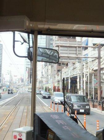 Sumiyoshi Taisha Shrine: taken onboard the tram