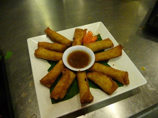 Le Tigre de Papier Cooking School : Delicious spring rolls