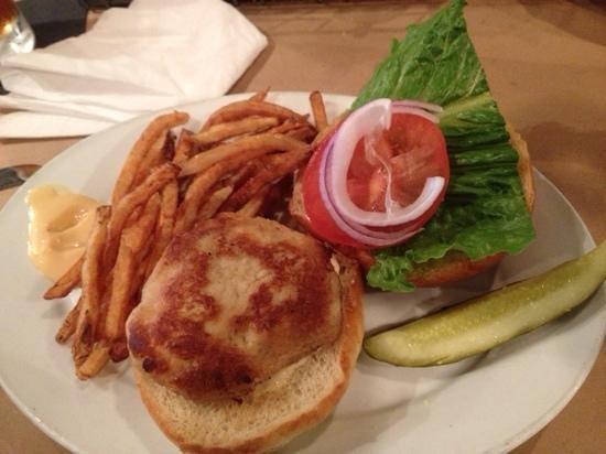 Old Salt: crabcake sandwich with brine fries