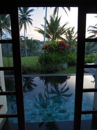 Chapung SeBali Resort and Spa : The view from our bedroom each morning.