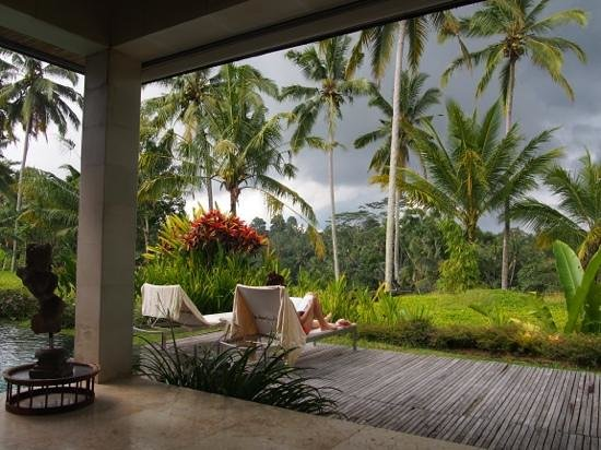 Chapung SeBali Resort and Spa: Soaking up the scenery from the front of our villa
