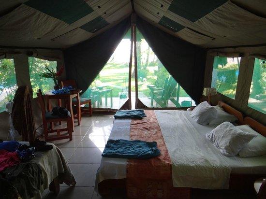 Rafiki Beach Camp: Blick aus dem Zelt