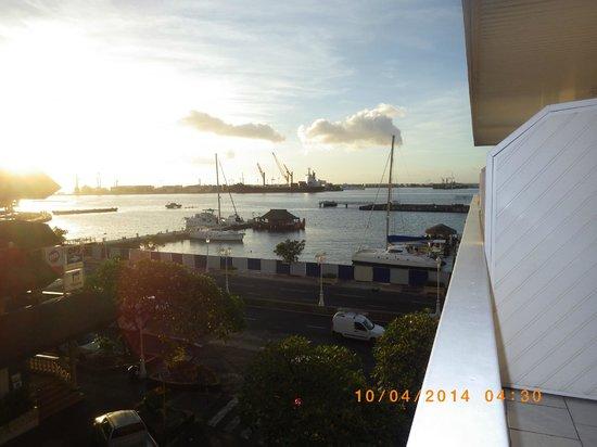 Tiare Tahiti Hotel: vue du balcon de la chambre