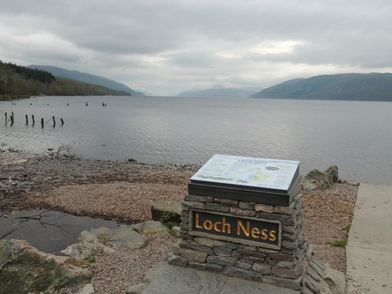 The view from the car park at the Dores Inn