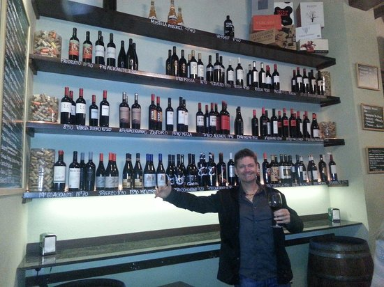 Alioli: Wine heaven.  With a missing friend