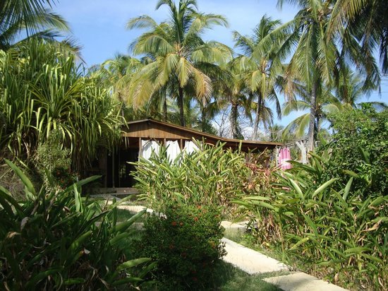 Casas Pelicano: Casa Mapache, sun curtains late afternoon