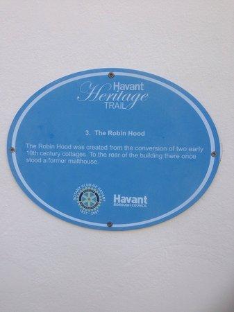 The Robin Hood: Robin Hood part of heritage trail