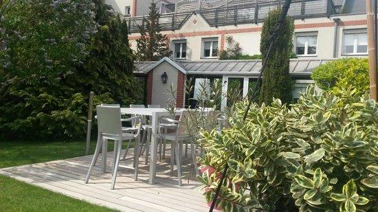 L'Assiette Champenoise : La terrasse