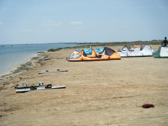 Hotel Golf Beach: plage du kite surf