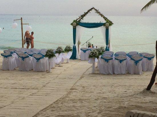 Friday's Boracay: Wedding ceremony set up
