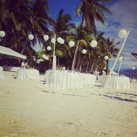 Friday's Boracay: Wedding reception set up