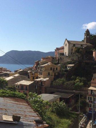 Camere Giuliano: View of Vernazza from Villa Sophia terrace!