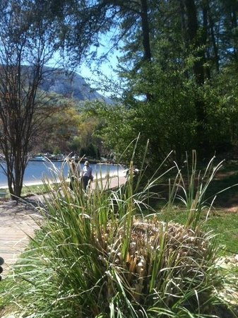 Rumbling Bald Resort on Lake Lure: A walk along Lake Lure shore