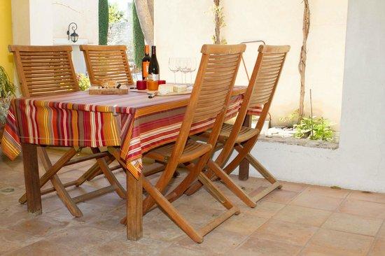 """Villa Velleron : Apartment """"Studio"""": the private terrace"""