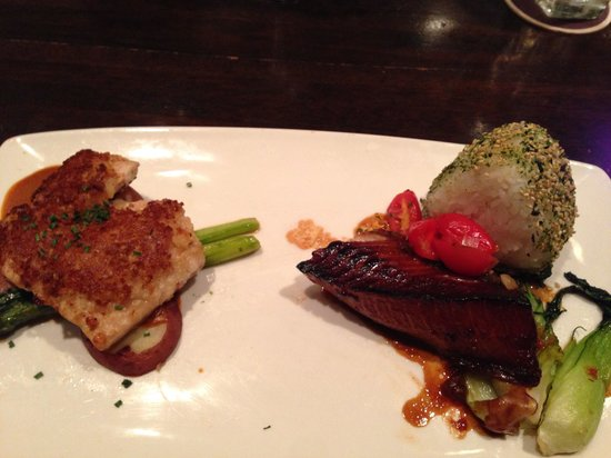 Roy's: Sea bass and halibut entree