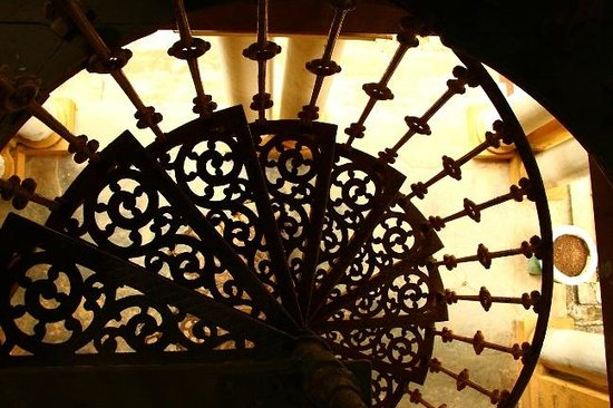 Richmond Castle: An ornate staircase