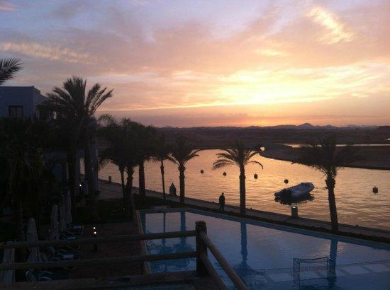 Marina Lodge at Port Ghalib : Sonnenuntergang