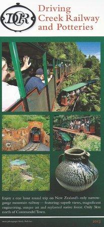Driving Creek Railway and Potteries: Brochure Driving creek Railway