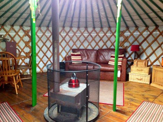 Keld Bunkbarn: Inside the yurt